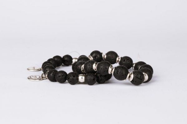 Simple Basalt Stone Bracelet