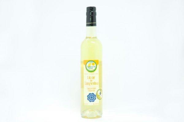 Bottle of tangerine liqueur