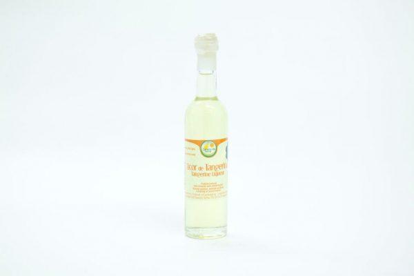 Mini bottle of tangerine liqueur