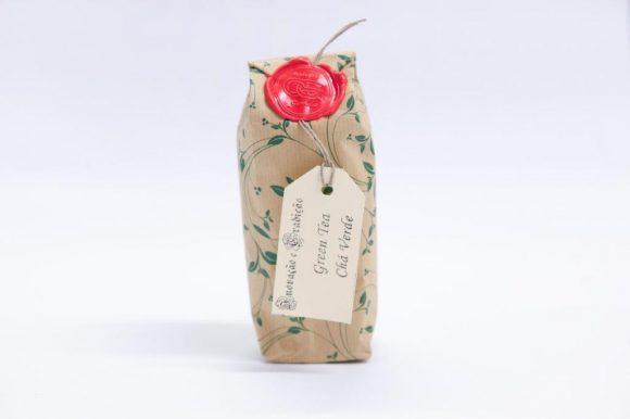 Gorreanas green tea in a paper bag