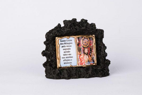 Santo Cristos Book in Vulcanic Stone Decoration