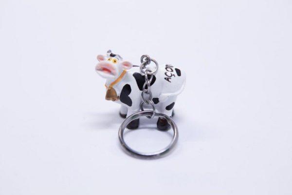 Mini key holder in cow shape