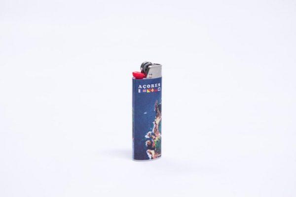 BIC big  cigarrete-lighter Azores various landscapes printed