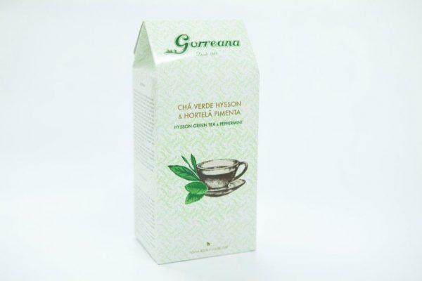 Gorreana green mint tea bag