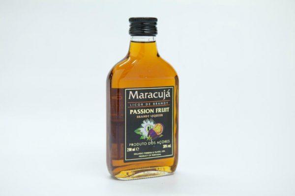 Medium bottle of 200ml of passion fruit brandy